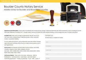 Boulder County Notary